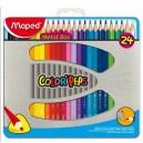 Цветни моливи 24 цв. метална кутия MAPED
