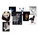 Тетрадка малък формат А5 60л Animals