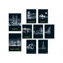 Тетрадка малък формат А5 60л Cities by night