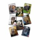Тетрадка малък формат А5 42л офсет Pigna Animal World