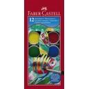 Faber-Castell акварелни бои 12 цв. Ф30 мм