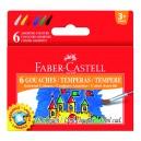 Faber-Castell темперни бои 6 цв.