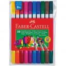 Faber-Castell двувърхи флумастери 10 цв.
