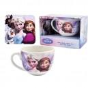 Frozen керамична чаша с подложка