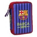 FC Barcelona несесер с 2 ципа пълен