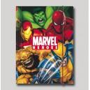Папка с ластик Marvel