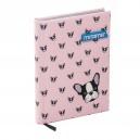MITAMA Pink Dog тефтер с текстилни корици