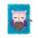 OWL плюшен дневник  с катинар А5
