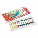 Foska Темперни бои, в тубички, 12 ml, 12 цвята
