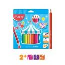 MAPED Color'Peps Early Age цветни моливи Jumbo 18 цв.