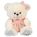 Плюшена играчка - Мече с рокля, 32 cm