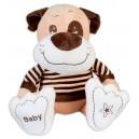 Плюшена играчка - Куче с блузка, 30 cm