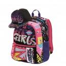 MITAMA Plus Roller Girl ученическа раница с подарък Шапка