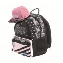 MITAMA Unlimited Pink Lace ученическа раница с подарък Шапка