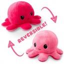 Октопод с две лица плюшен, Розово-~ Червено