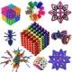 Магнитни топчета Fidget 5 мм, 216 бр. 6 цвята