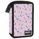 BackUp 3 DW 70 Pink Unicorn несесер с 2 ципа, зареден с пособия